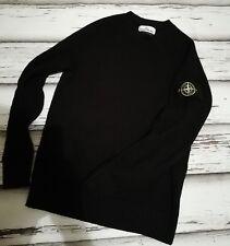 Stone Island wool sweater with round neck size M Black