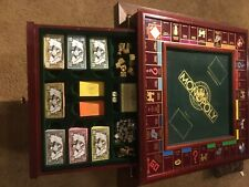 New Listing Franklin Mint Monopoly Board Game Deluxe Collectors Edition Solid Wood