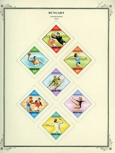 1953-54 Hungary Summer Olympics Specialty Album Page MH SC #1057-61 #C123-C127+