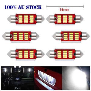 6x Canbus 36mm Car Interior Light 4014 LED 12SMD Festoon Dome MAP Bulbs 12V