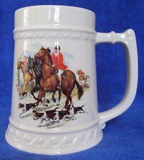 Large Stein English Hunting Scene W/ Hounds Horses Us Cerami 00004000 c Co Halboro Pa
