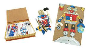 NEW Kaper Kidz Tap A Shape Robot & Space Tap Kids in Book Case Activity Playset