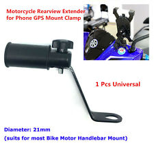 1x Motorcycle Rearview Side Mirror Extender Bracket For Phone Holder Mount Clamp