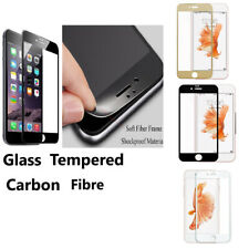 Carbon Fiber 3D Full Curved Screen Protector Tempered Glass for iPhone 5 5s SE