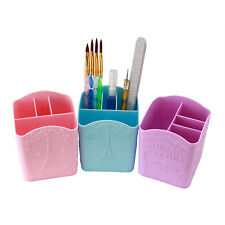 1 x Nail Art Makeup Storage Box Holder Organizer For Brush Pen Sanding File Tool