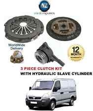 Pour Vauxhall Movano 1,9 dT Box Combo J9 F9 Embrayage Kit 3 Pièce + roulement hydraulique