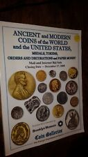 Ancient and Modern Coins of the World and the United States Medals, Tokens, Orde