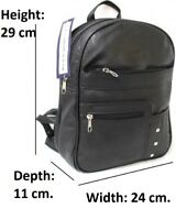 Multi Compartment Backpack. Colours: Black or Taupe. Style No: 3674.