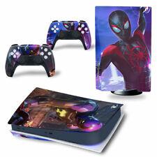 PS5 Disc Edition Skin Decal Sticker -Spiderman Custom Design 11 - FREE P&P