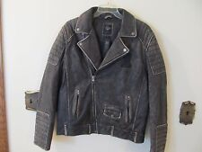 Harley Davidson Men BLACK LABEL #1 Distressed Leather Jacket  97174-17VM LARGE