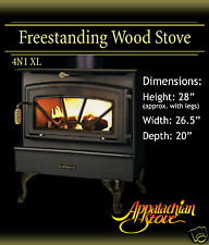 Appalachian 4N1 XL FREESTANDING Wood Stove Fireplace