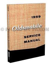 1959 Oldsmobile Shop Manual 59 Olds 88 98 Repair Service Book Dynamic Super