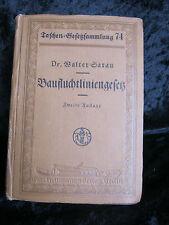 Walter saran, baufluchtliniengesetz, Carl Hermann editorial brlin, 1921, 2. tirada