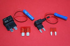 2 x Add a Circuit Fuse Tap Piggy Back Mini/Std Blade Fuse Holders 12/24 Volt NEW