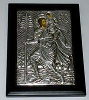 Heilige Christophorus IKONE Metall Oklad Icon Ikonen Icoon Ikona Icone Ikona