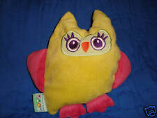 "Blankets and Beyond Yellow & Pink Owl 9"" Baby Toy"