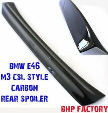 BMW E46 Fits: M3 2 DOOR REAR BOOT TRUNK SPOILER CSL STYLE CARBON FIBRE Z1006