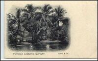 BOMBAY Mumbai Indien India Vintage Postcard ~1900 Park Victoria Garden (Clifton)