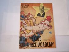 1963 NEW MEXICO VS AIR FORCE ACADEMY COLLEGE FOOTBALL PROGRAM - BOX C