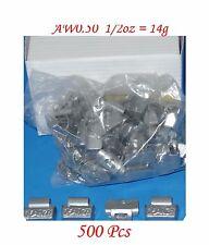 Wholesales Price 500 Pcs ZN CLIP-ON WHEEL WEIGHT BALANCE 0.50oz 1/2 oz AWZ0.50OZ