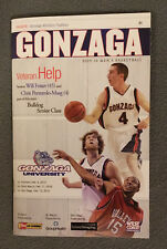 2009-2010 GONZAGA UNIVERSITY BULLDOGS MEN'S BASKETBALL SOUVENIR GAME PROGRAM