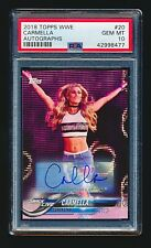 Carmella 2018 Topps WWE Autographs Auto #59/99 PSA 10 Gem Mint