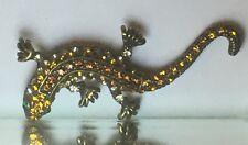 Jewelry Chameleon Lizard Pin Brooch Swarovski Crystals  W/ Gift Box!!