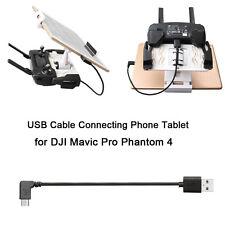 Connect Phone Tablet For DJI Mavic Pro Phantom 4  Transmitter Cable USB Type-C