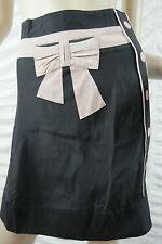 ALANNAH HILL pink black 100% silk Moans And Whispers A-line skirt size 6 BNWT