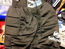 GOALKEEPER SHORTS SEL SPORT 30/32 INCH BLACK PADDED AT £8EMBROIDE