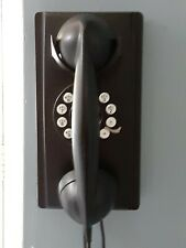 Crosley CR55 Corded Retro Wall House Telephone Black Push Button Dial