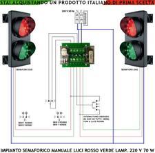 SEMAFORO GARAGE OMOLOGATO 2 LUCI ROSSA VERDE 220 V. 70 W TELEINVERTITORE MANUALE