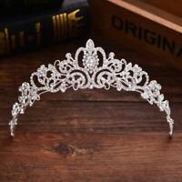 Princess Wedding Headband Tiara Crown Bridal Crystal Rhinestone Hair Prom Silver