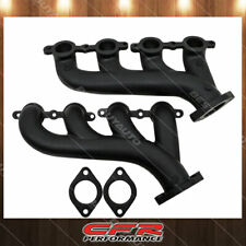 Cast Iron Exhaust Manifolds Fits 02-12 Chevy LS Based Ceramic Black
