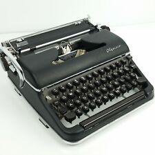 Vintage 1955 Olympia SM3 Typewriter Black DeLuxe Portable No Case