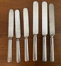 Antique DOHRCO Acme Silver Plate Dinner Knives & OC Nickel Silver Knife