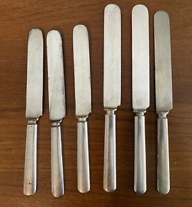 Antique DOHRCO Acme Silver Plate Dinner Knives & OC Nickel Silver Knife
