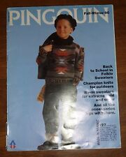 VINTAGE 1990 KNITTING PATTERN BOOK *PINGOUIN - AWESOME CHILDREN'S SWEATERS!
