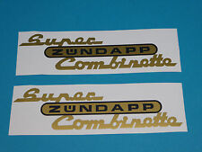 Zündapp Aufkleber Super Combinette Gold/Schwarz Tank Sticker Abziehbild NEU