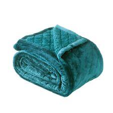 Bianca Mansfield velvet Sherpa Blanket 480gsm Teal