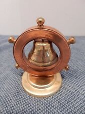 Ships Wheel Hanging Bell Paperweight, Made in England