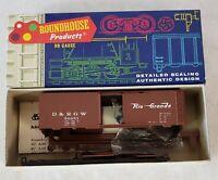 Roundhouse HO Scale Denver & Rio Grande West #3258 AAR 40' Box Car Kit - NEW (B)