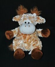 Peluche Doudou Girafe STARTOY Beige Blanc Orange Chiné Brun Marron 35 Cm NEUF