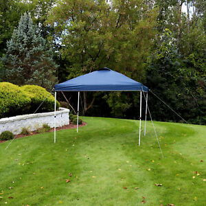 Sunnydaze 10x10 Foot Premium Pop-Up Canopy with Rolling Carry Bag - Blue