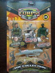 Figurine -Set of Global Bros Heroes-2 (3 soldiers+accessories)