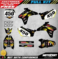 Custom Graphics Full Kit to Fit Suzuki RMZ 450 2005 - 2006 BARBED STYLE stickers