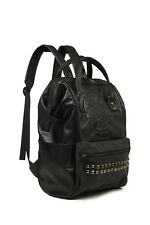 Black Gothic Punk Rock Skull Studs Rockabilly Backpack Bag By Banned Apparel