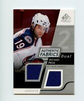 08-09 SP GAME-USED SPGU AUTHENTIC FABRICS DUAL JERSEY MICHAEL PECA JACKETS 69046