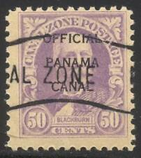 CANAL ZONE #O8 Used SCARCE - 50c Rose Lilac