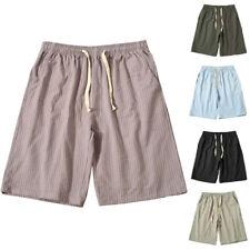 Men Sports Shorts Soft Breathable Casual Stripe Printed Thin Beach Short Pants